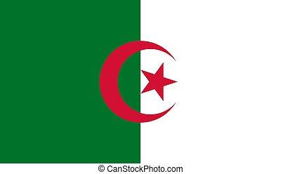 lobogó, vektor, ábra, algéria