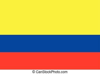lobogó, vektor, ábra, colombia