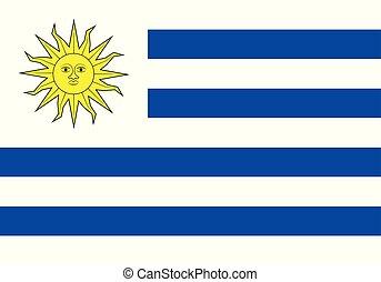 lobogó, vektor, ábra, uruguay