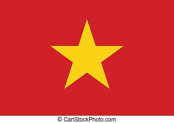 lobogó, vektor, ábra, vietnam
