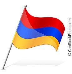 lobogó, vektor, örményország, ábra