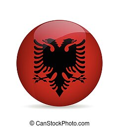 lobogó, vektor, albania., illustration.