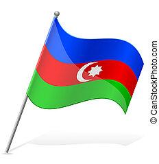 lobogó, vektor, azerbajdzsán, ábra