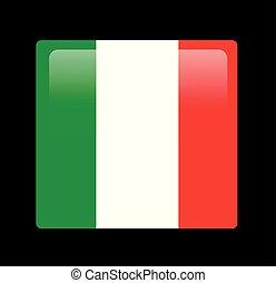 lobogó, vektor, olasz