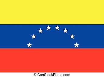 lobogó, vektor, venezuela, ábra