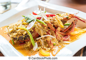 Lobster Curry - Lobster stir fried with spice curry