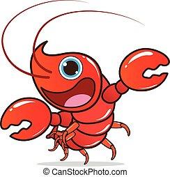 Lobster cute cartoon