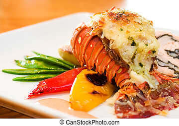 Lobster Dinner - Delicious meal of lobster and stuffed ...