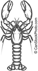 Lobster icon isolated on white background.