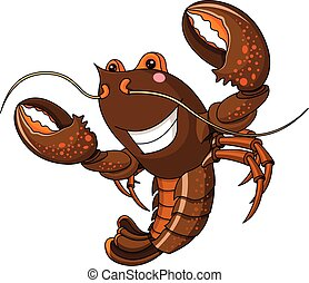 Illustration of very cute lobster