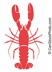 Red Lobster. The vector file is in easy edit layers