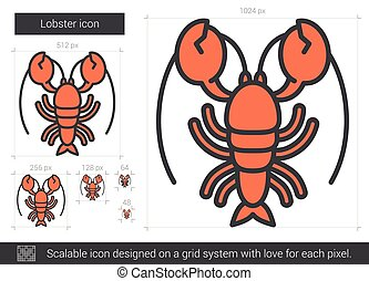 Lobster line icon.