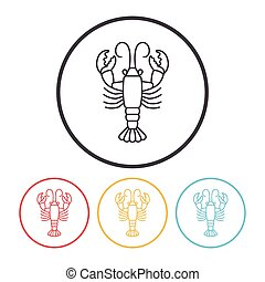 lobster line icon