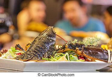 Lobster on Plate in Restaurant