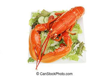 Lobster on salad