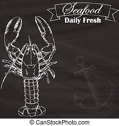 lobster outline silhouette