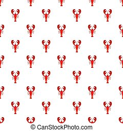 Lobster pattern seamless