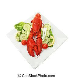 Lobster salad on a plate
