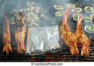 Lobster seafood omar cuisine - Large boiled omar, Lobster...