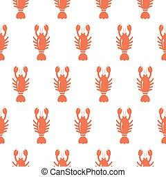 Lobster seamless pattern