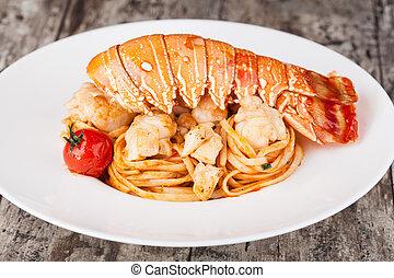 Lobster spaghetti, Italian cuisine