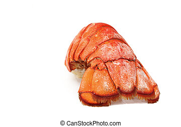 lobster tail isolated on white