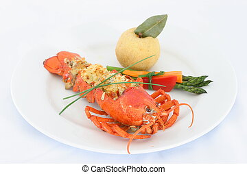 Lobster Thermador - A Traditional Lobster dish