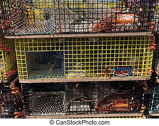 Lobster traps in New Brunswick Canada - Lobster traps in ...