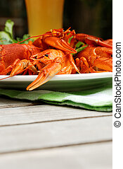 Lobsters on a plate