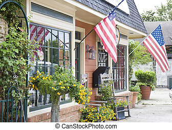Local American Shop - A small town shop on a city street