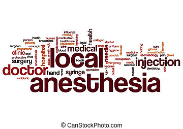 Local anesthesia word cloud