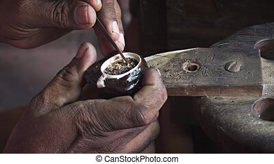 Local Artist Creating Jewelry by Hand in Sri Lanka - Local...