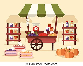 Farmers Market - Local Autumn Products at Farmers Market. ...