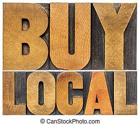 local, bois, mots, achat, type