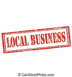 Local Business-stamp - Grunge rubber stamp with text Local...