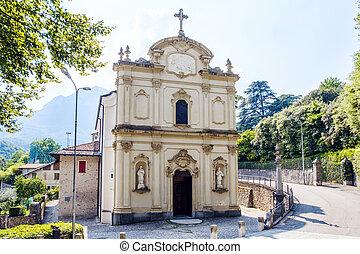 Local church in a sunny day
