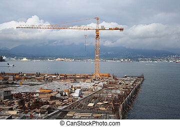 local construção, litoral