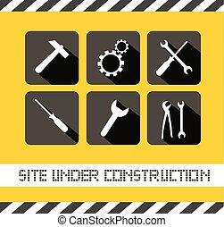 local construção, sob