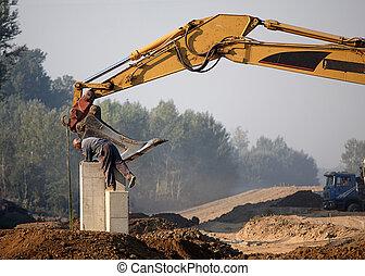 local construção, trabalhos