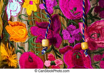 Local craft at souvenir market in Cancun, Mexico.