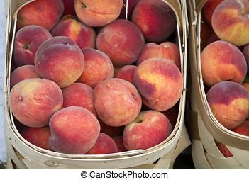 Local Crop of Peaches - Baskets full of ripe, local, organic...