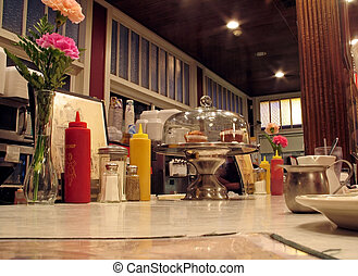 Local Diner - This is a shot of the countertop at an old ...