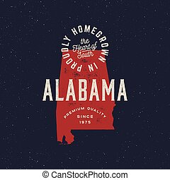local farm retro grunge badge. homegrown in alabama. vector ...