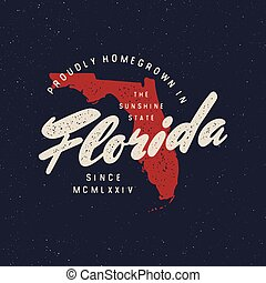 local farm retro grunge badge. homegrown in florida. vector ...