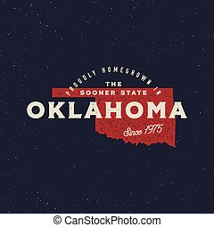 local farm retro grunge badge. homegrown in oklahoma. vector...