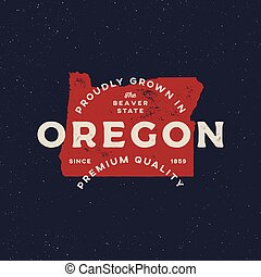 local farm retro grunge badge. homegrown in oregon. vector ...