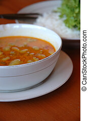 local food from west java-indonesia named soto bandung