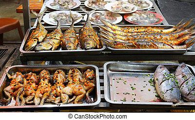 Local food in night market in Phu Quoc Island, in Vietnam