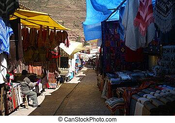 Local market in Peru