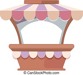 Local market isolate on white background. - Vector...
